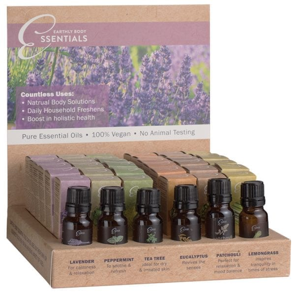 Earthly Body Essential Oils Display of 36 - EBE7000-99