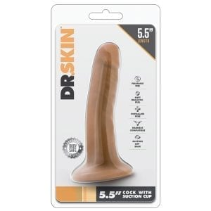 """Dr. Skin Cock With Suction Cup-Mocha 5.5"""" - BN14507"""