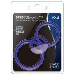 Performance VS4 Pure Premium Cockring Set-Indigo - BN370812