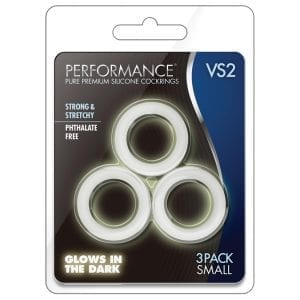 Performance VS2 Pure Premium Cockrings Small-GITD - BN70819