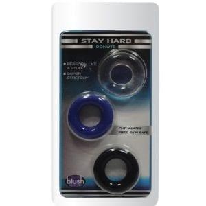 Stay Hard Donut Rings (3 Pack) - BN899