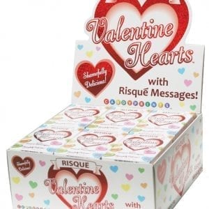 Risqué Valentine's Day Heart Candy Display of 24 - C286-00