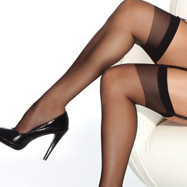 Coquette Thigh High Sheer Stockings-Black O/S - CQ1706-30-5