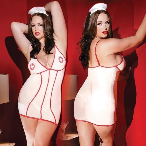 Kissable Nurse Dress With Head Piece-Red O/S X - CQ1940-31-15