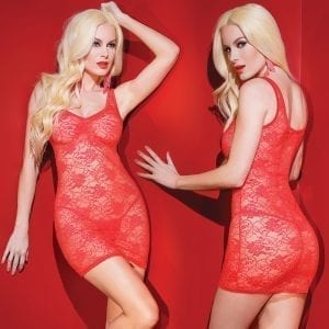 Kissable Stretch Lace Tank Top Dress-Red O/S    [Regular Price 10.00] - CQ1955-31-5