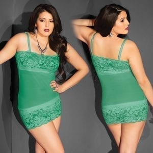 Kissable Mesh Tube Dress W/ Lace Hem-Green O/S X    [Regular Price 10.00] - CQ2413-51-15