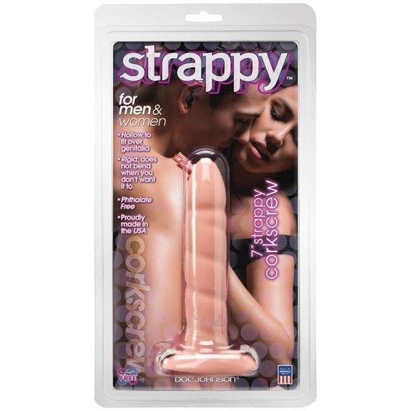 "Strappy Corkscrew Extentions-Vanilla 7"" - D0710-01CD"