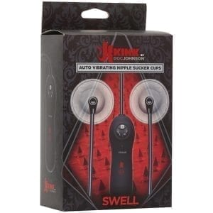 Kink Swell Auto Vibrating Nipple Sucker Cups - D2404-07BX