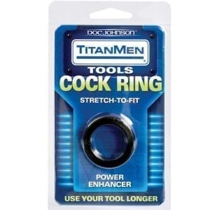 TitanMen Cock Ring Stretch To Fit-Black - D3503-01CD