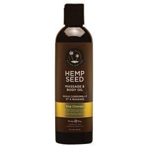 Earthly Body Hemp Seed Massage Oil-Nag Champa 8oz - EB1035-23