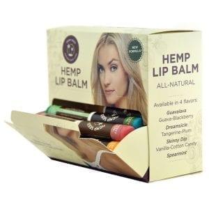 Earthly Body Hemp Lip Balm Stick Assorted Display of 48 - EB6000-99