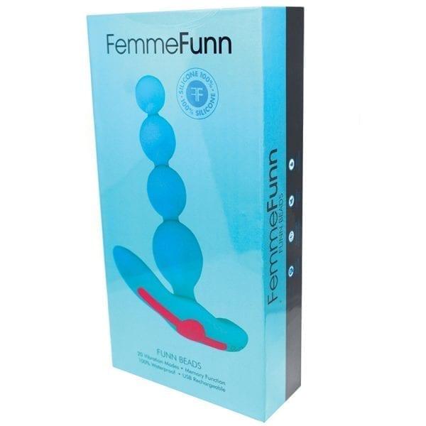 Femmefunn Vibrating Anal Beads-Turquoise - FF1011-04