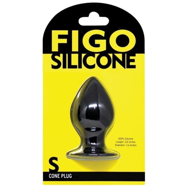 Figo Cone Silicone Plug Small-Black - FG204-05