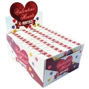 Valentines X Rated Heart Candy Assorted Display of 24 - HP2991D