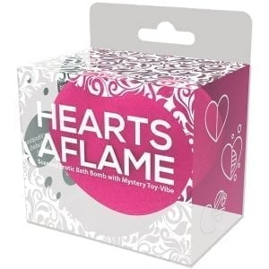 Hearts A Flame Erotic Lovers Bath Bomb with Vibe Inside - HP3076