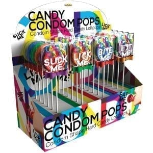 Candy Condom Pops-Assorted Display of 24 - HP3219