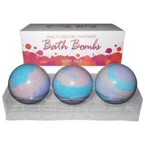 Multi Color Lavender Bath Bomb Gift Set (3 Pack) - KGBGR46