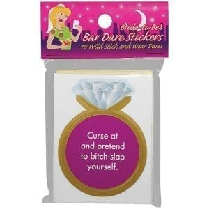 Bride-To-Be Bar Dare Stickers - KGNVS16