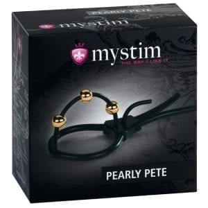 Mystim Pearly Pete Corona Strap With Golden Balls - MYS46586
