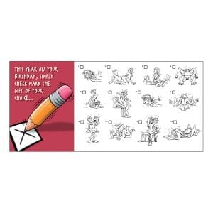 """Greeting Card B-Day """"Check Mark The Gift Of Your Choice"""" - OZ1212"""