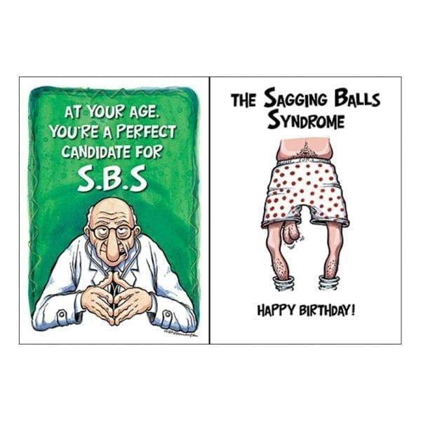 "Greeting Card B-Day ""Sagging Balls Syndrome"" - OZ1226"