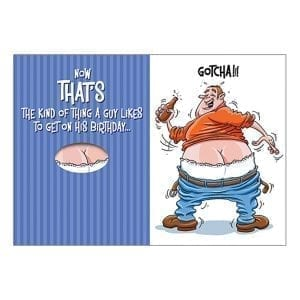 """Greeting Card B-Day """"Now Thats The Kind Of Thing A Guy Likes?"""" - OZ1362"""