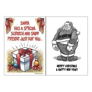 Greeting Card Santa Has A Scratch And Sniff Present... - OZ2501