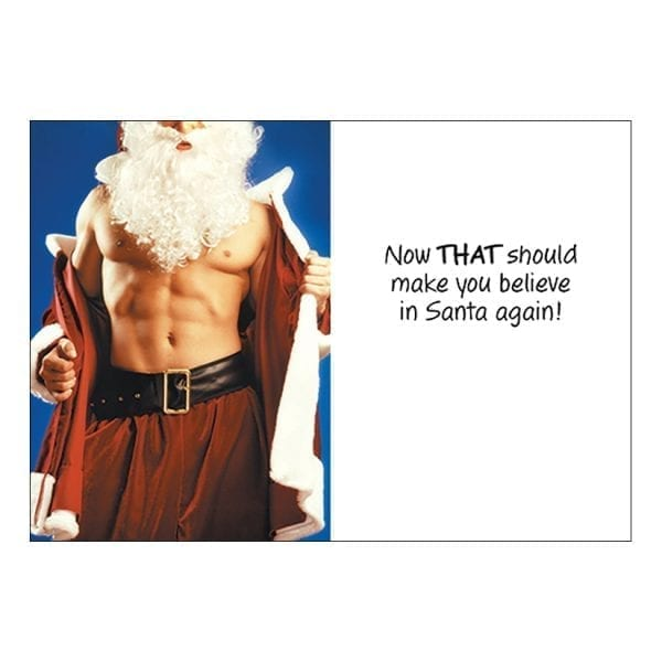 Greeting Card Believe In Santa - OZ2548