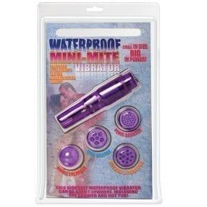 "Waterproof Mini Mite Vibrator-Purple 3.75"" - PD1114-12"