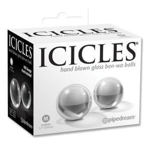 """Icicles No.42-Ben-Wa Balls-Clear Medium 1.2"""" - PD2942-00"""
