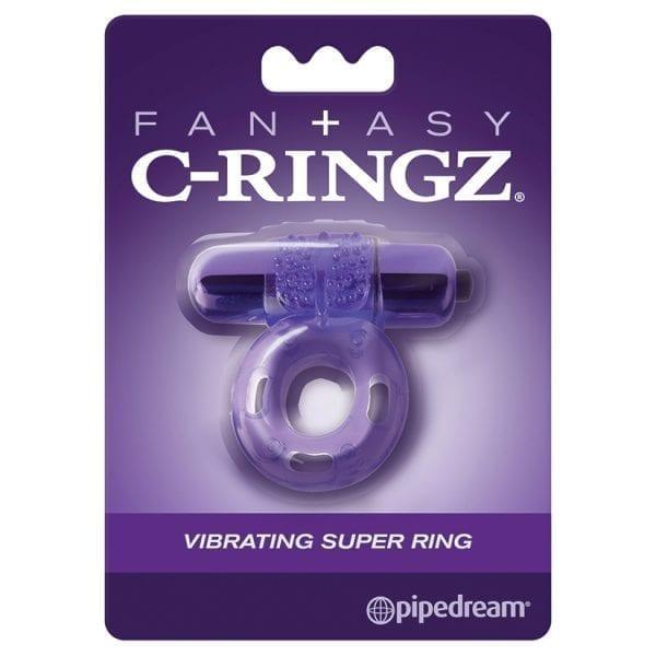 Fantasy C-Ringz Vibrating Super Ring-Purple - PD5860-12