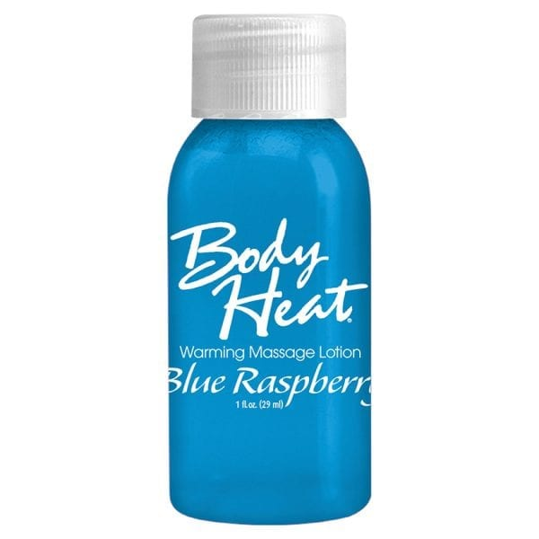 Body Heat Warming Massage Lotion-Blue Raspberry 1oz - PD9553-64