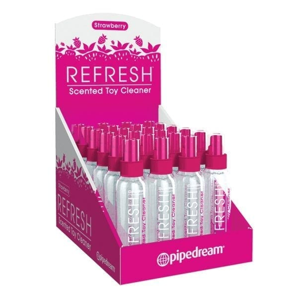 Refresh Toy Cleaner-Strawberry 4oz Display of 24 - PD9759-99
