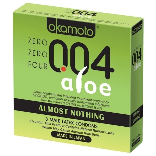 Okamoto 004 Aloe Condom (3 pack) - PM50033