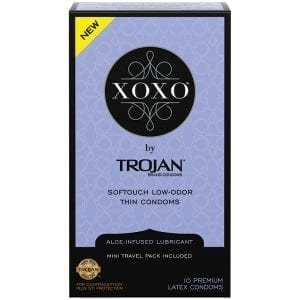 Trojan XOXO Thin Condom (10 pack) - PM99849