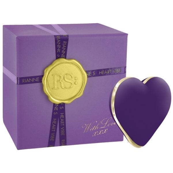 RianneS Rechargeable Heart Vibe-Deep Purple - RS24