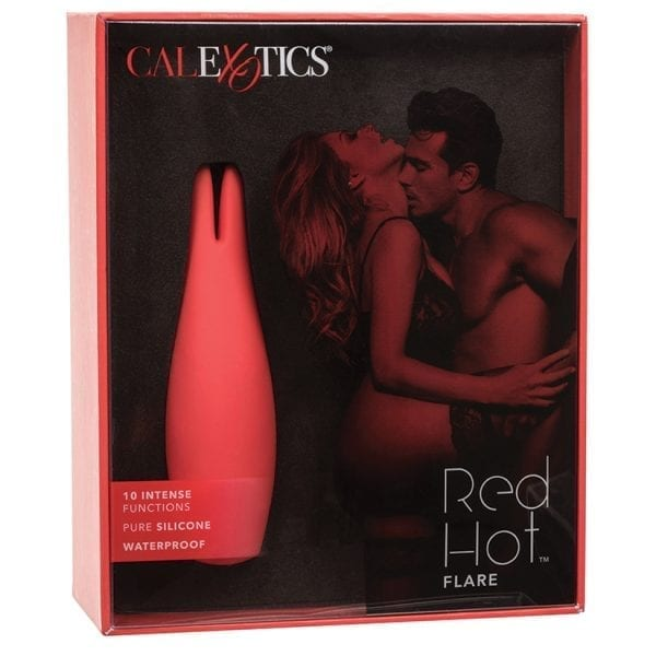 """Red Hot Rechargeable Massager-Flare 4.5"""" - SE4408-30-3"""