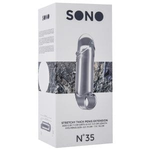 Sono No.35 Stretchy Thick Penis Extension-Translucent - SON035TRA