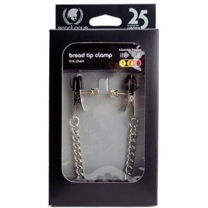Spartacus Broad-Tip Clamp With Link Chain-Silver - SPF-26