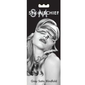S&M Grey Satin Blindfold - SS100-83