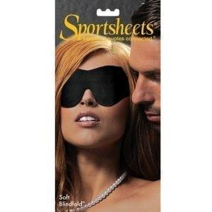 Sportsheets Soft Blindfold-Black - SS930-40
