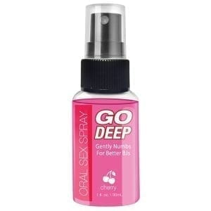 Go Deep Oral Sex Spray-Cherry 1oz - T1030111