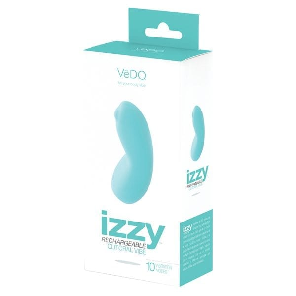 Vedo Izzy Rechargeable Clitoral Vibe-Turquoise - VIF0401
