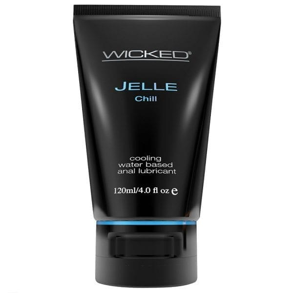Wicked Jelle Chill Cooling Waterbased Anal Lubricant 4oz - WS90228
